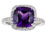 Carnival Amethyst & diamond Ring by Nigel Milne