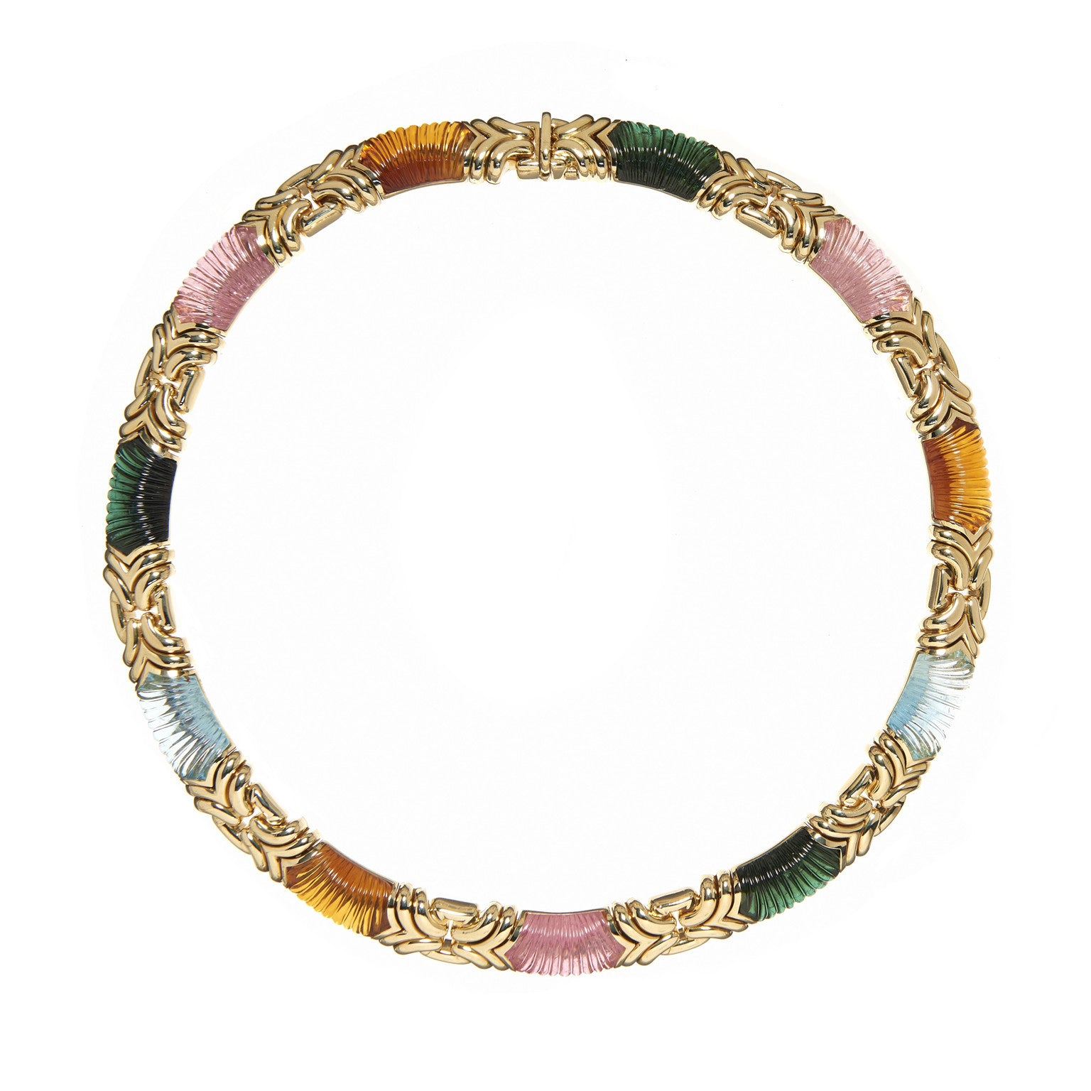 Bvlgari Gemstone and Gold Necklace
