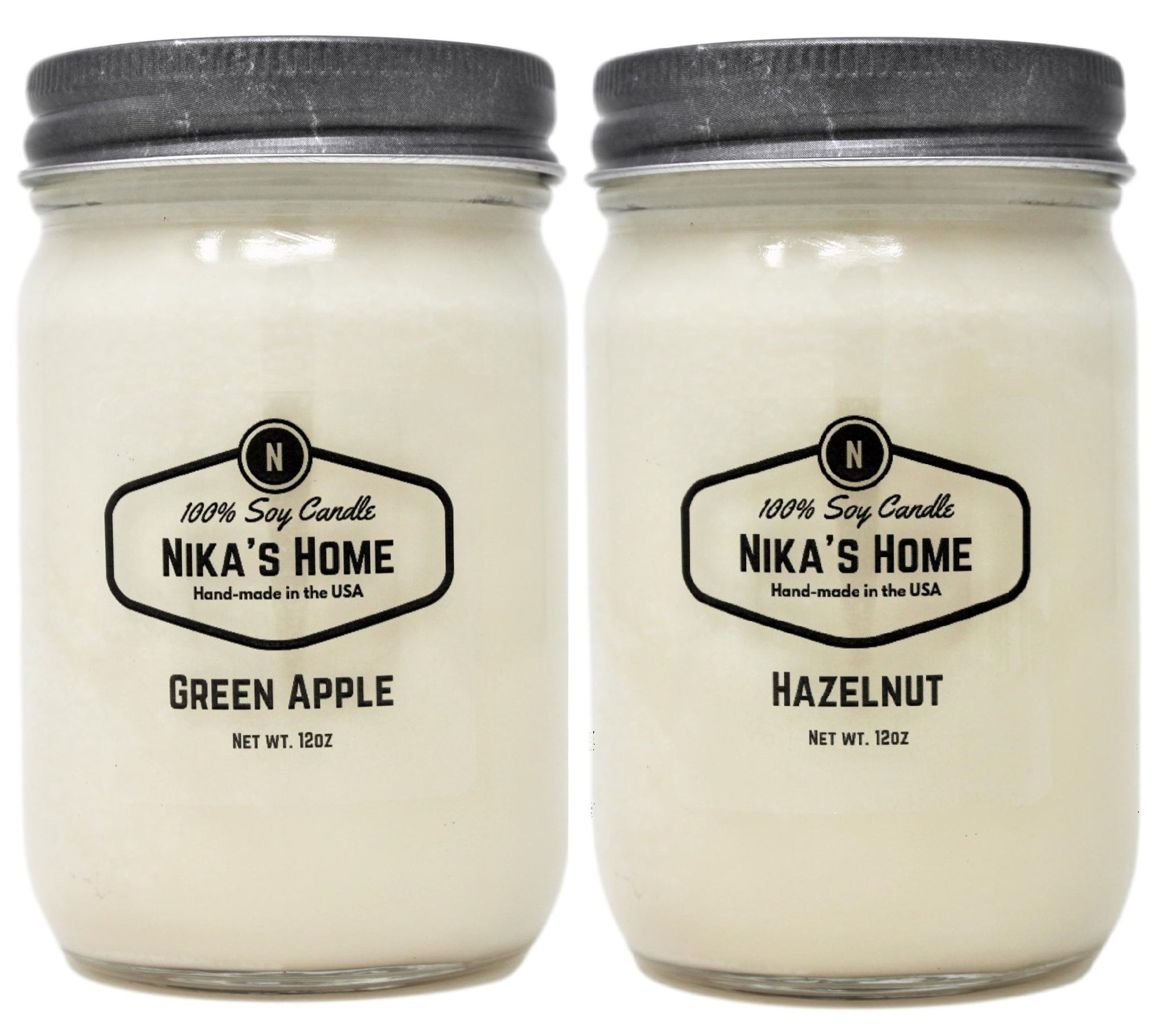 Growing the product line by two delightful scents: Green Apple and Hazelnut.