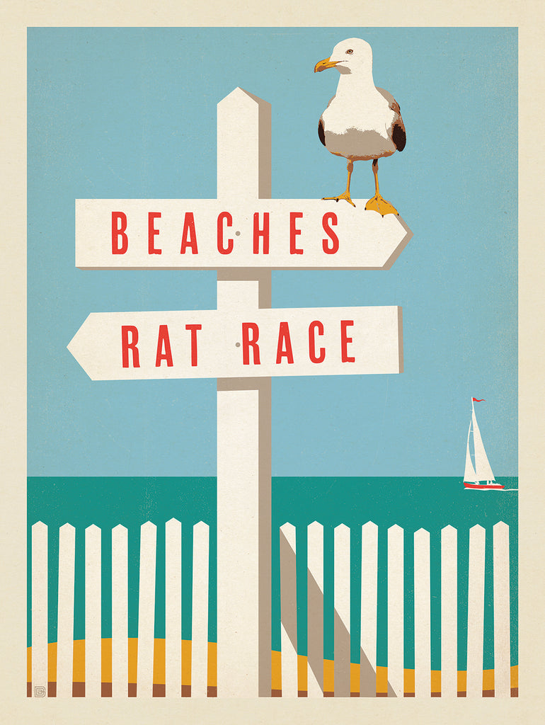 Coastal Posters for Your Sunshine Daydream (by Ren Brabenec)