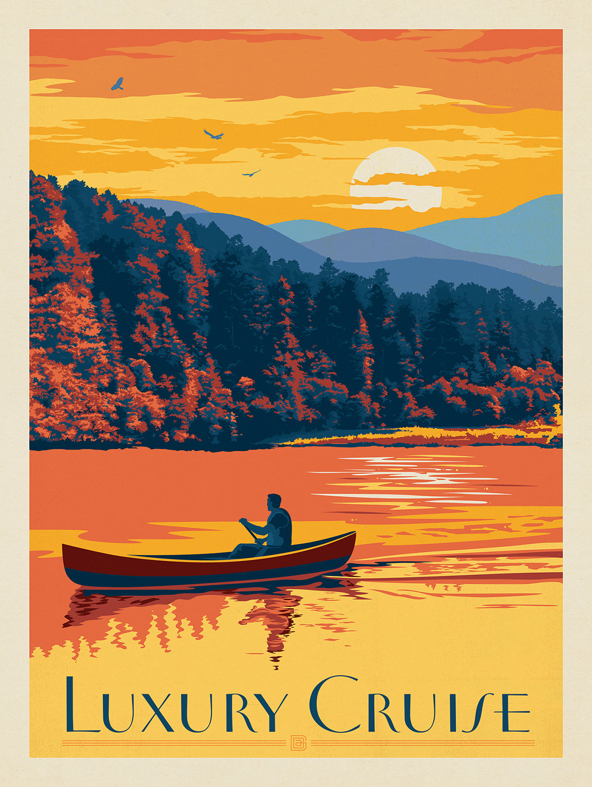 Remembering the Good Times at the Lake with Vintage Poster Art