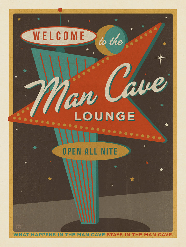 The Man Cave Collection – Vintage Poster Art Perfect for Any Man's Clubhouse