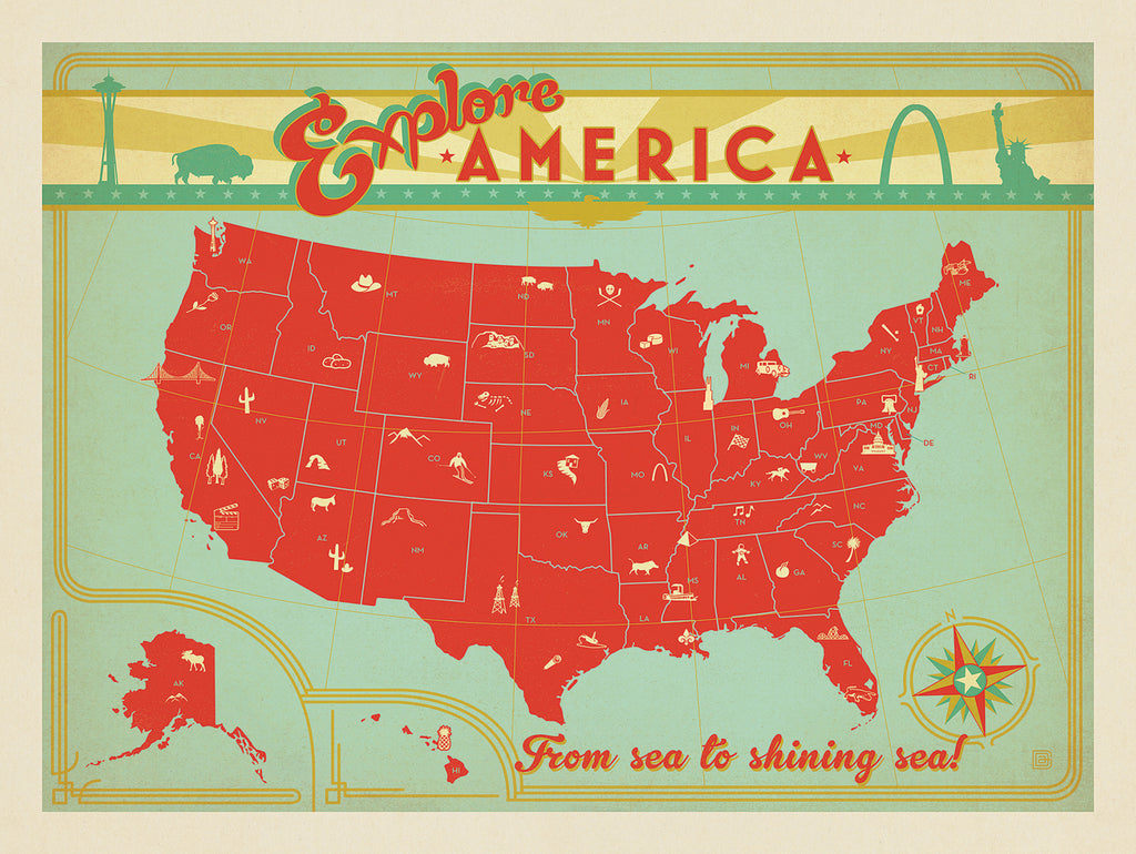 America the Beautiful - The American Travel Collection and Vintage Poster Art