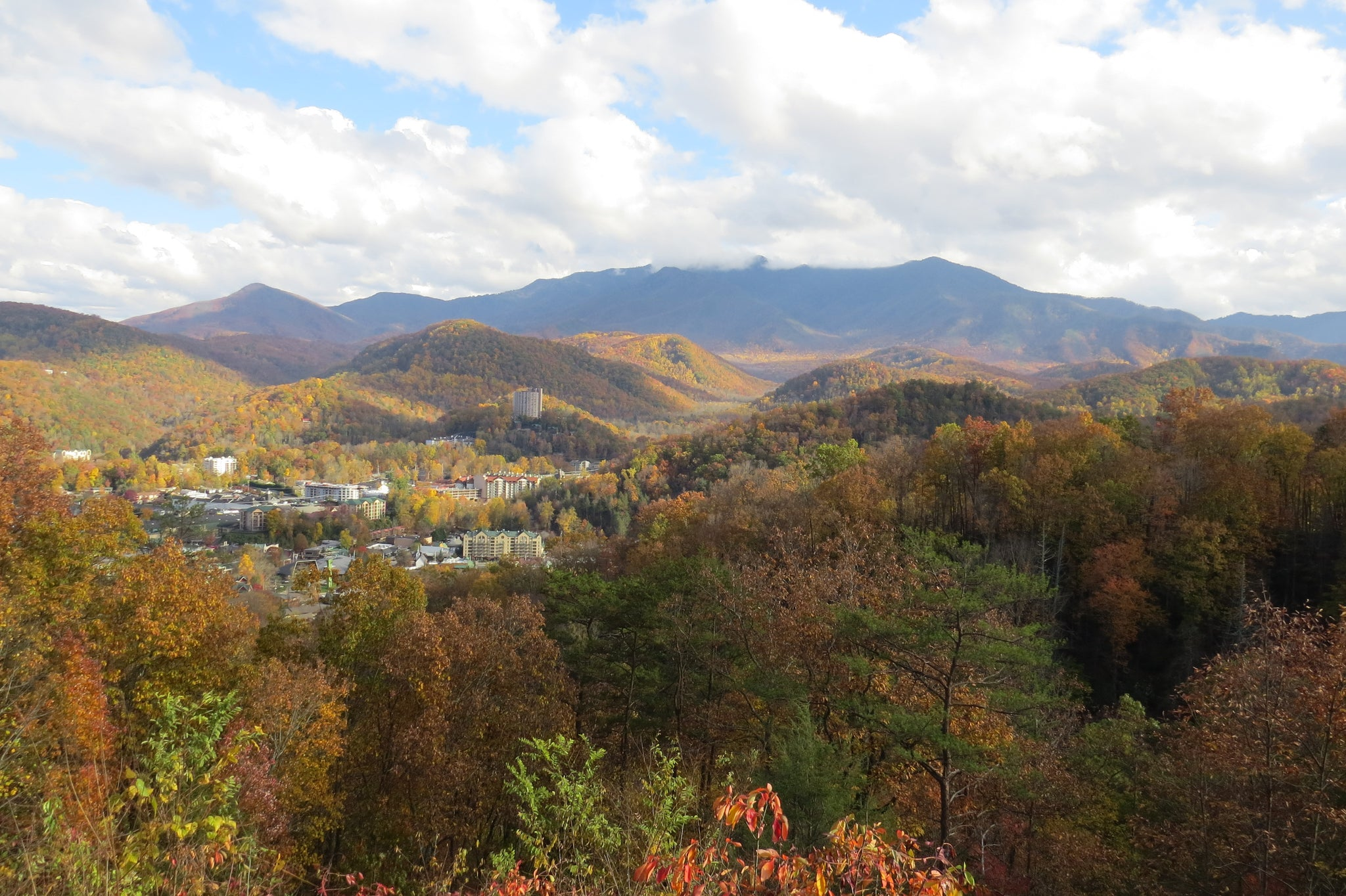 Gatlinburg in the valley below