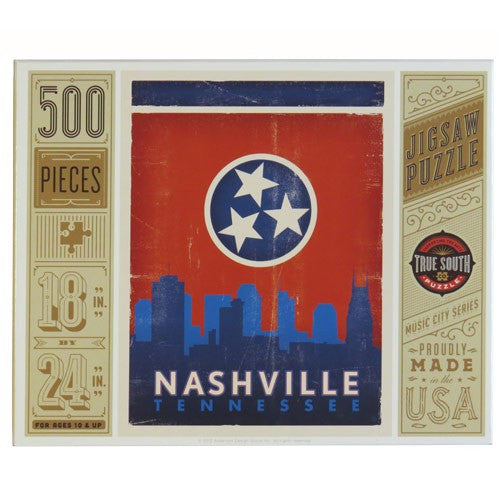 S.O.N. 500-pc Puzzle: State Flag Skyline