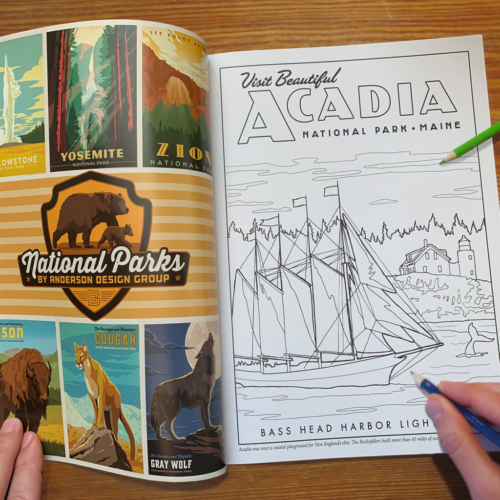 Coloring Book: 61 National Parks