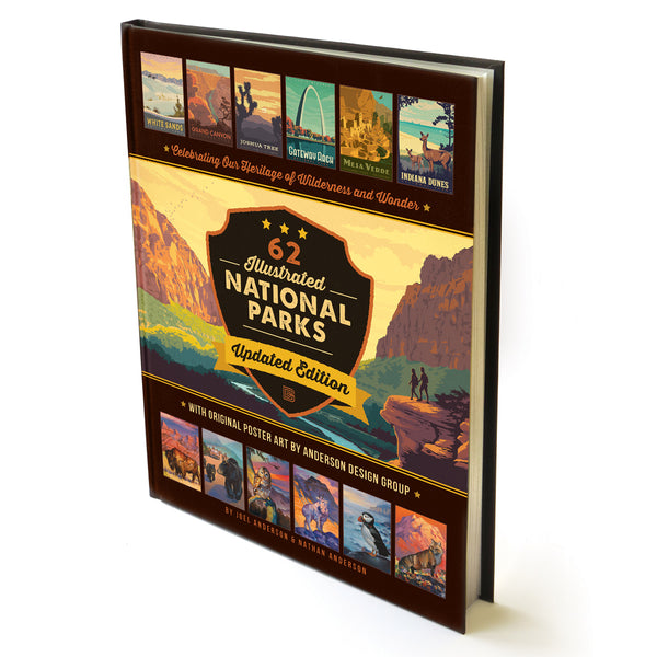 62 National Parks: Updated Edition HARD COVER Coffee Table Book