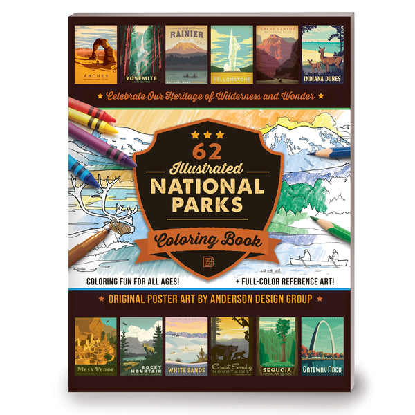 COLORING BOOK: 62 National Parks (Bargain—50% OFF!)