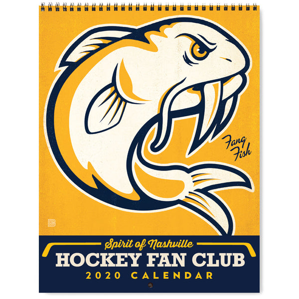 2020 Wall Calendar: Spirit of Nashville Hockey Fan Club