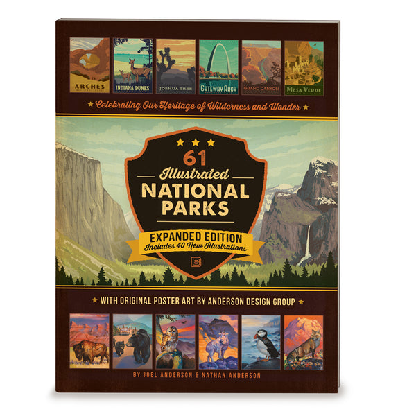 61 National Parks: Expanded Edition 172-page Soft Cover Book