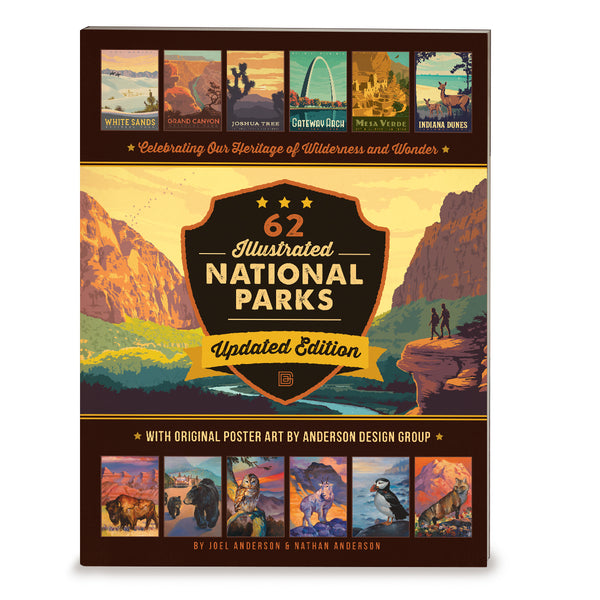 62 National Parks: Updated Edition SOFT COVER Book (Bargain—40% OFF!)