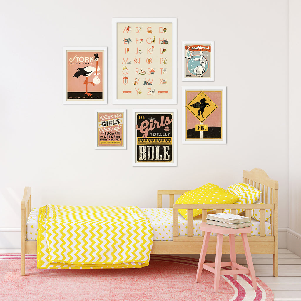 Nursery (Girl's Room) Gallery Wall Set