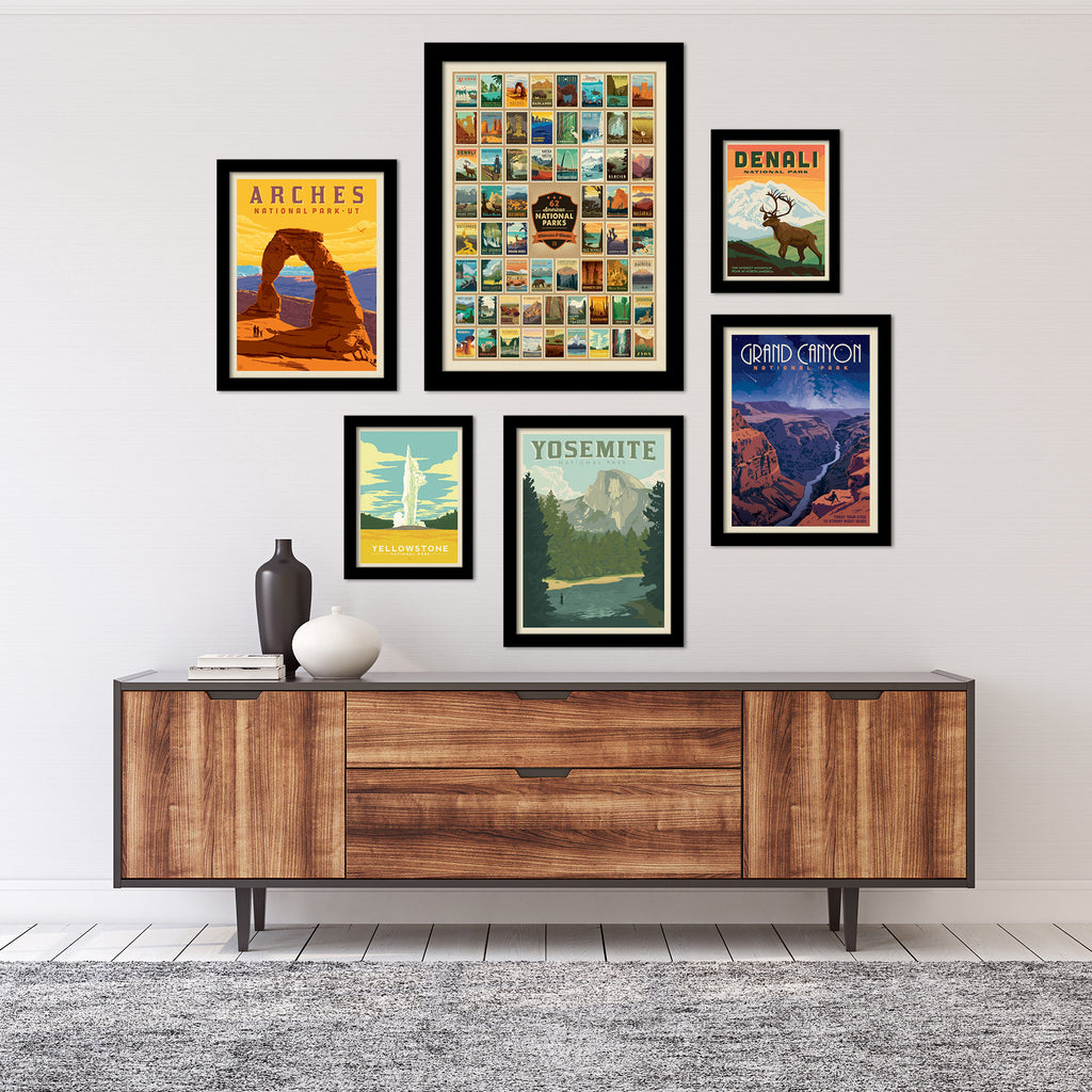 American National Parks Gallery Wall Set