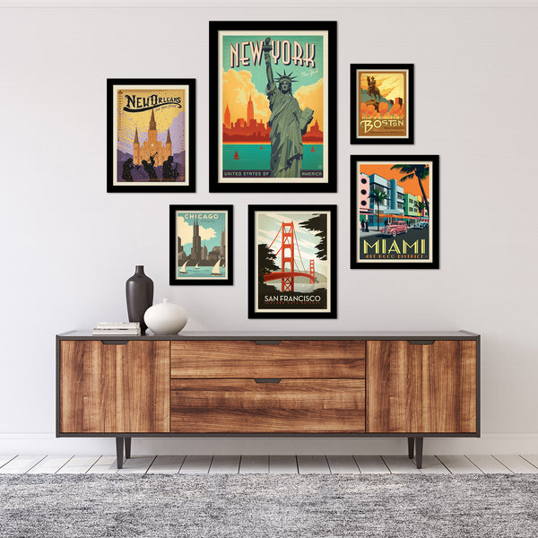 Iconic American Cities Gallery Wall Set