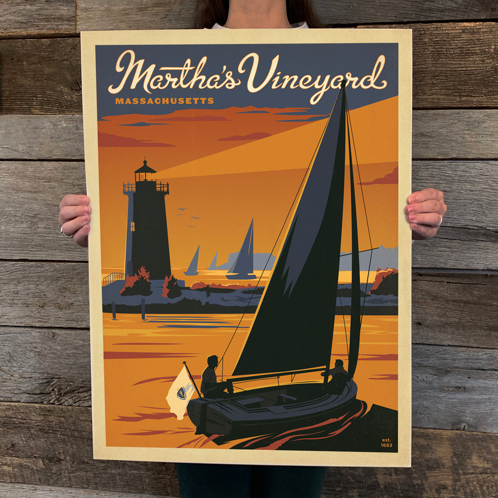 Bargain Bin Print: Martha's Vineyard-Sailboat (60% OFF!)