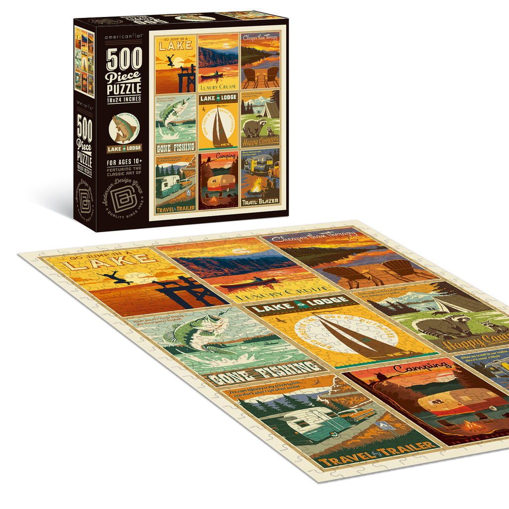 500-Pc. Puzzle: Lake and Lodge Collection