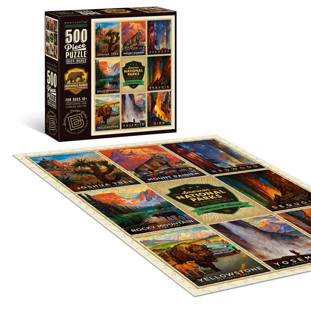 500-Pc. Puzzle: National Parks by Kai Carpenter, Joshua Tree-Zion