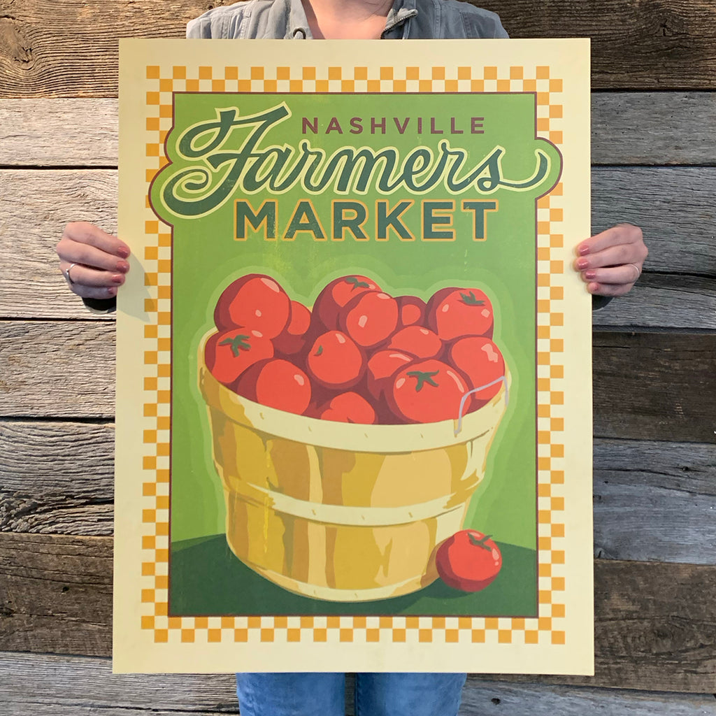 Bargain Bin Print: Spirit of Nashville-Farmers Market (60% OFF!)