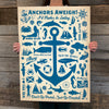 Bargain Bin Print: Coastal-Anchor Pattern Print (60% OFF!)