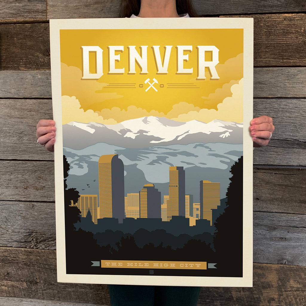 Bargain Bin Print: Denver, CO (60% OFF!)