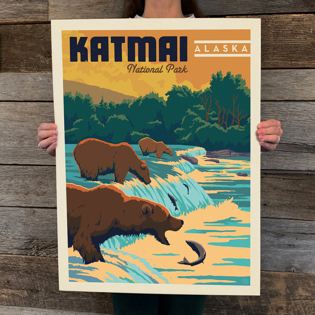 Bargain Bin Print: Katmai National Park (60% OFF!)