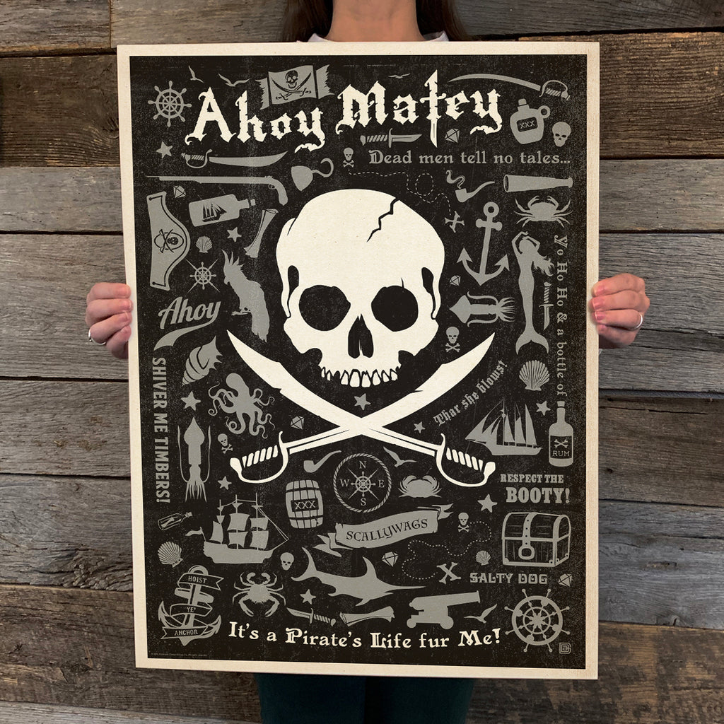 Bargain Bin Print: Coastal-Pirate Pattern Print (60% OFF!)