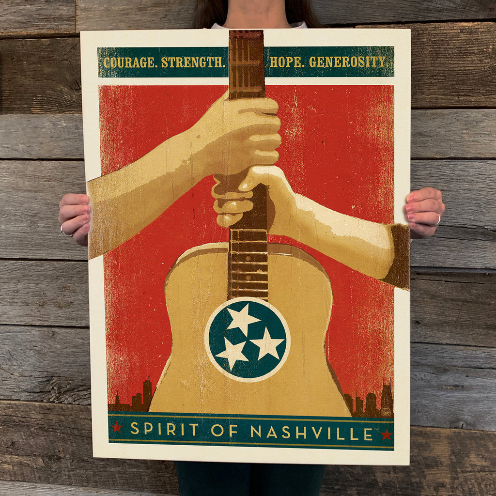 Bargain Bin Print: Spirit of Nashville-Hands On Guitar (60% OFF!)
