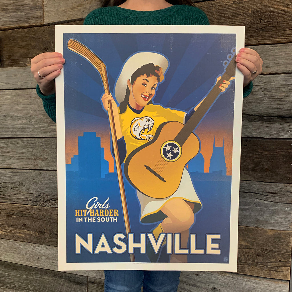 Bargain Bin Print: Spirit of Nashville-Hockey, Southern Girl (60% OFF!)