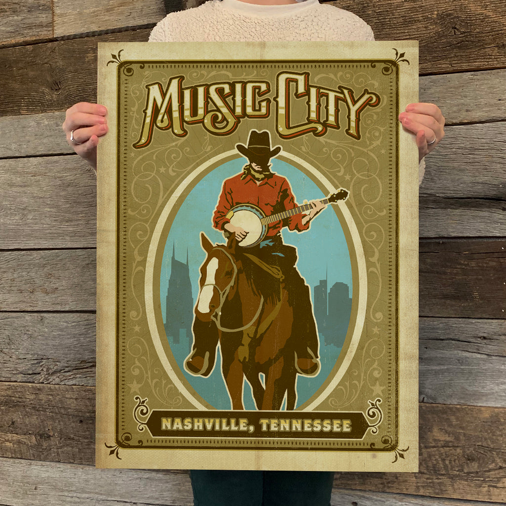 Bargain Bin Print: Spirit of Nashville-Music City Horse (Blow-Out: 70% OFF!)