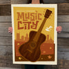 Bargain Bin Print: Spirit of Nashville-Mod Guitar (Blow-Out: 70% OFF!)