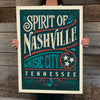 Bargain Bin Print: Spirit of Nashville-Typographic Design (60% OFF!)
