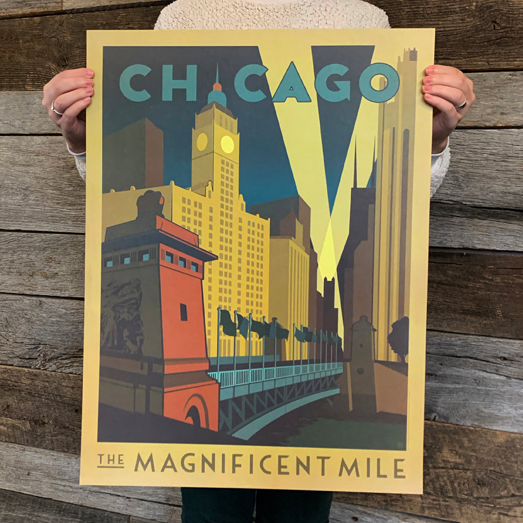 Bargain Bin Print: USA-Chicago Magnificent Mile (60% OFF!)