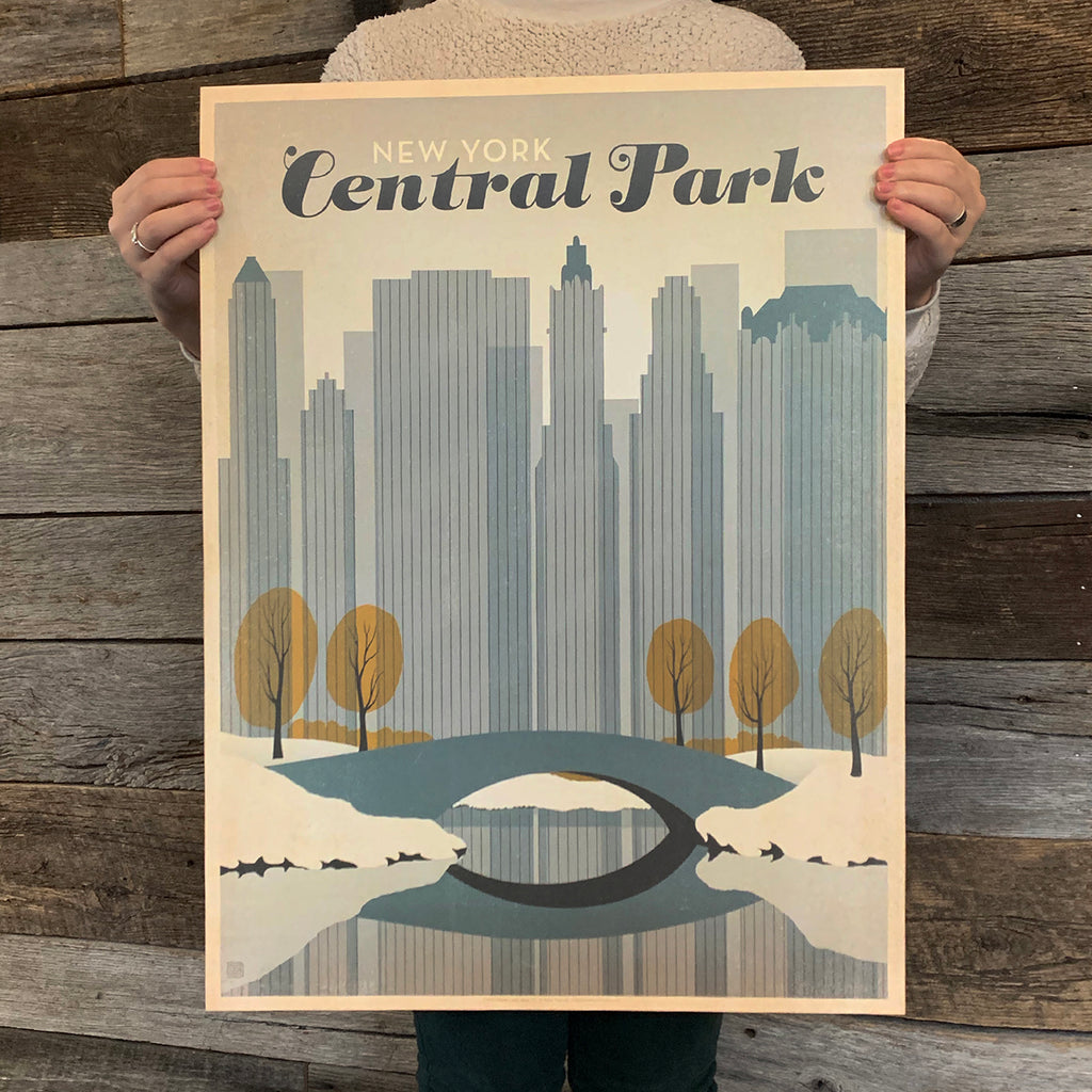 Bargain Bin Print: USA-NYC Central Park, Early Snow (60% OFF!)