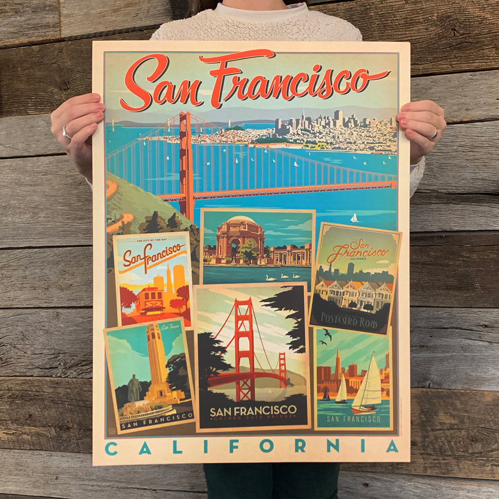 Bargain Bin Print: USA-San Francisco, Multi-Image Print (60% OFF!)