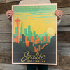 Bargain Bin Print: USA-Seattle Skyline (60% OFF!)