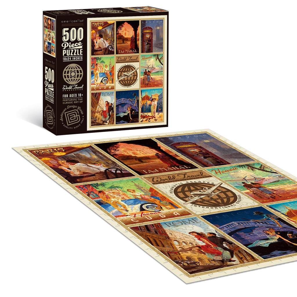 500-Pc. Puzzle: World Travel by Kai Carpenter