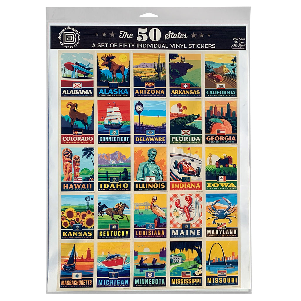 State Pride 50-Piece Sticker Set