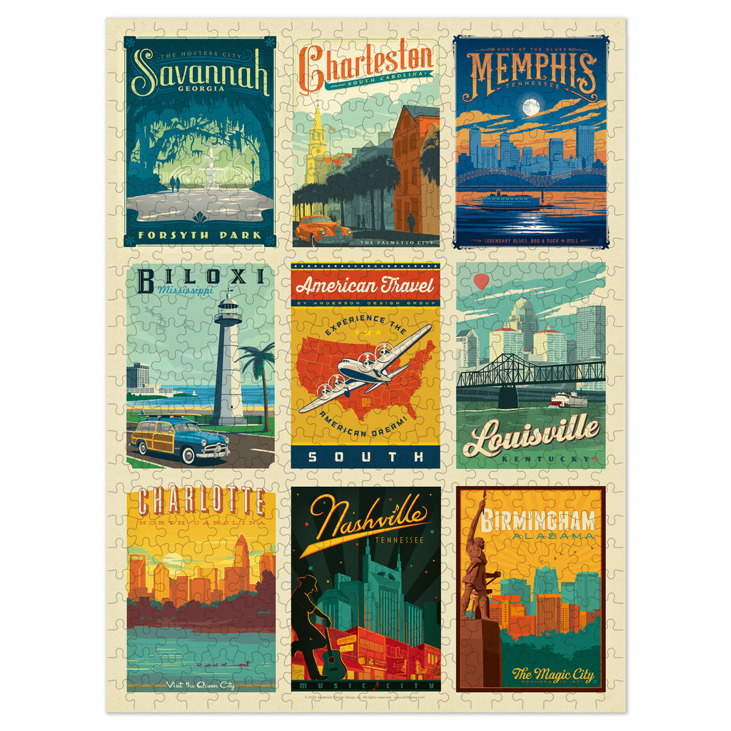 500-Pc. Puzzle: American Travel: South