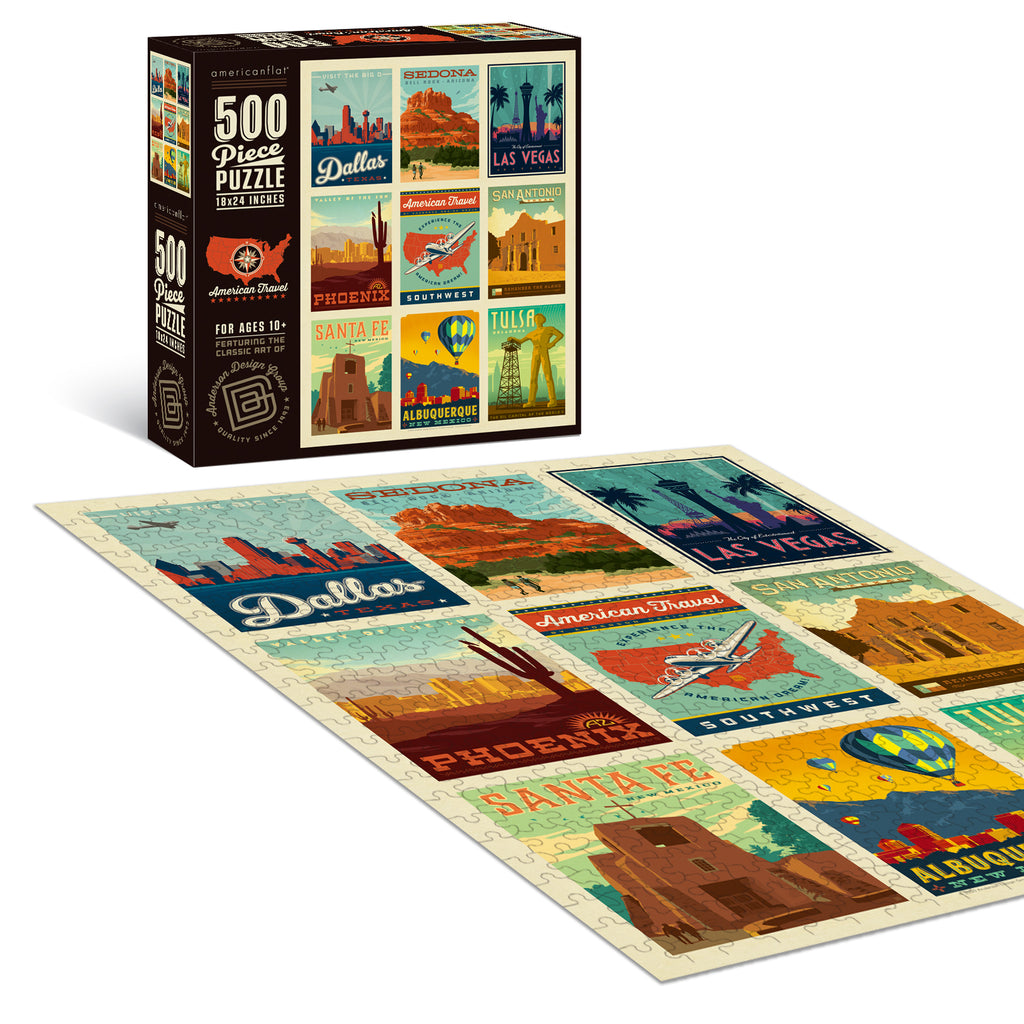 500-Pc. Puzzle: American Travel: Southwest