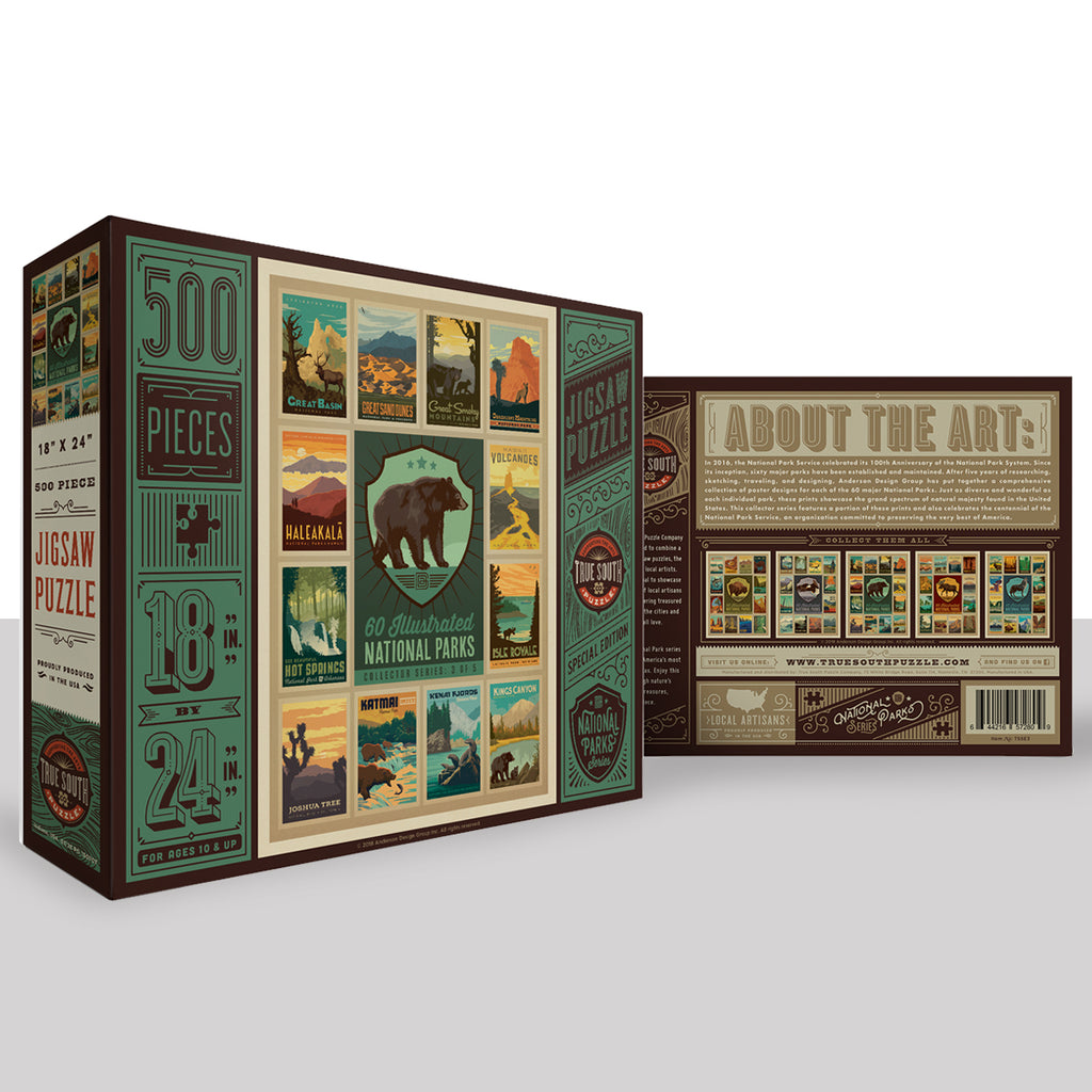 500-Pc. Puzzle: 60 National Parks Multi-Image (3 of 5: Bear)