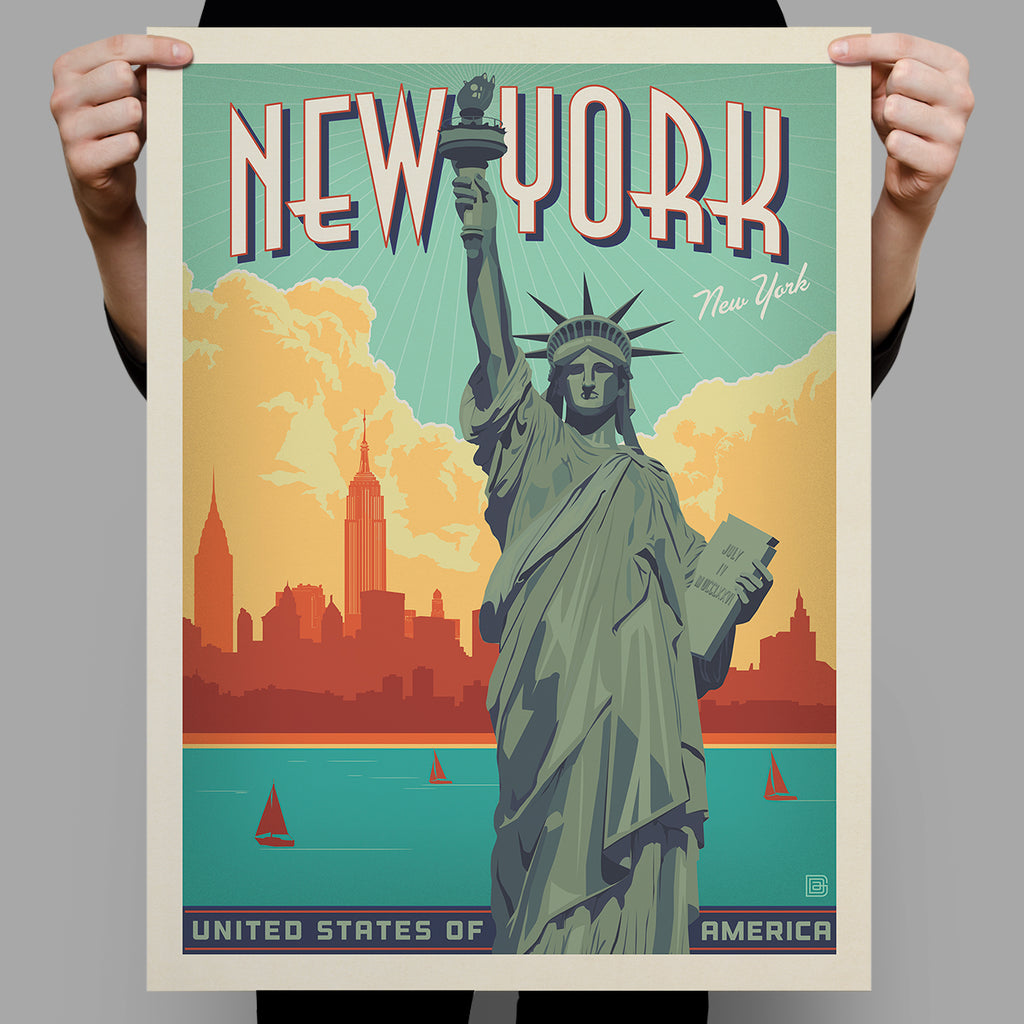American Travel: New York City-Lady Liberty (Best Seller)