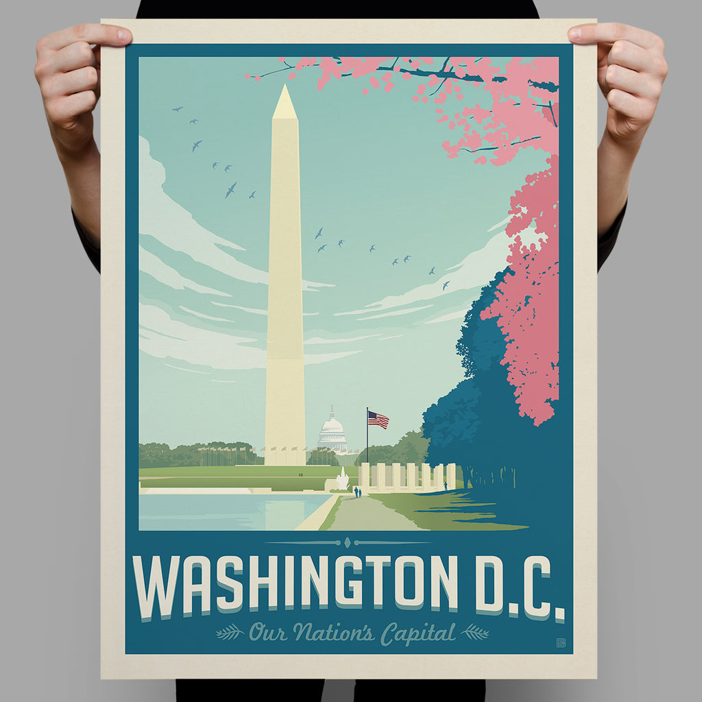 American Travel: Washington DC-Cherry Blossoms (Best Seller)