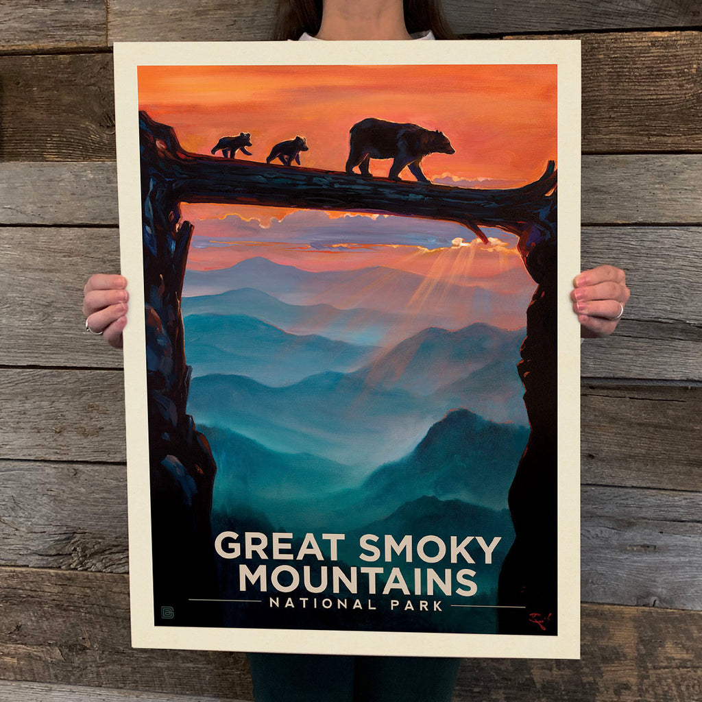 National Parks: Great Smoky Mountains-Bear Crossing (Best Seller)