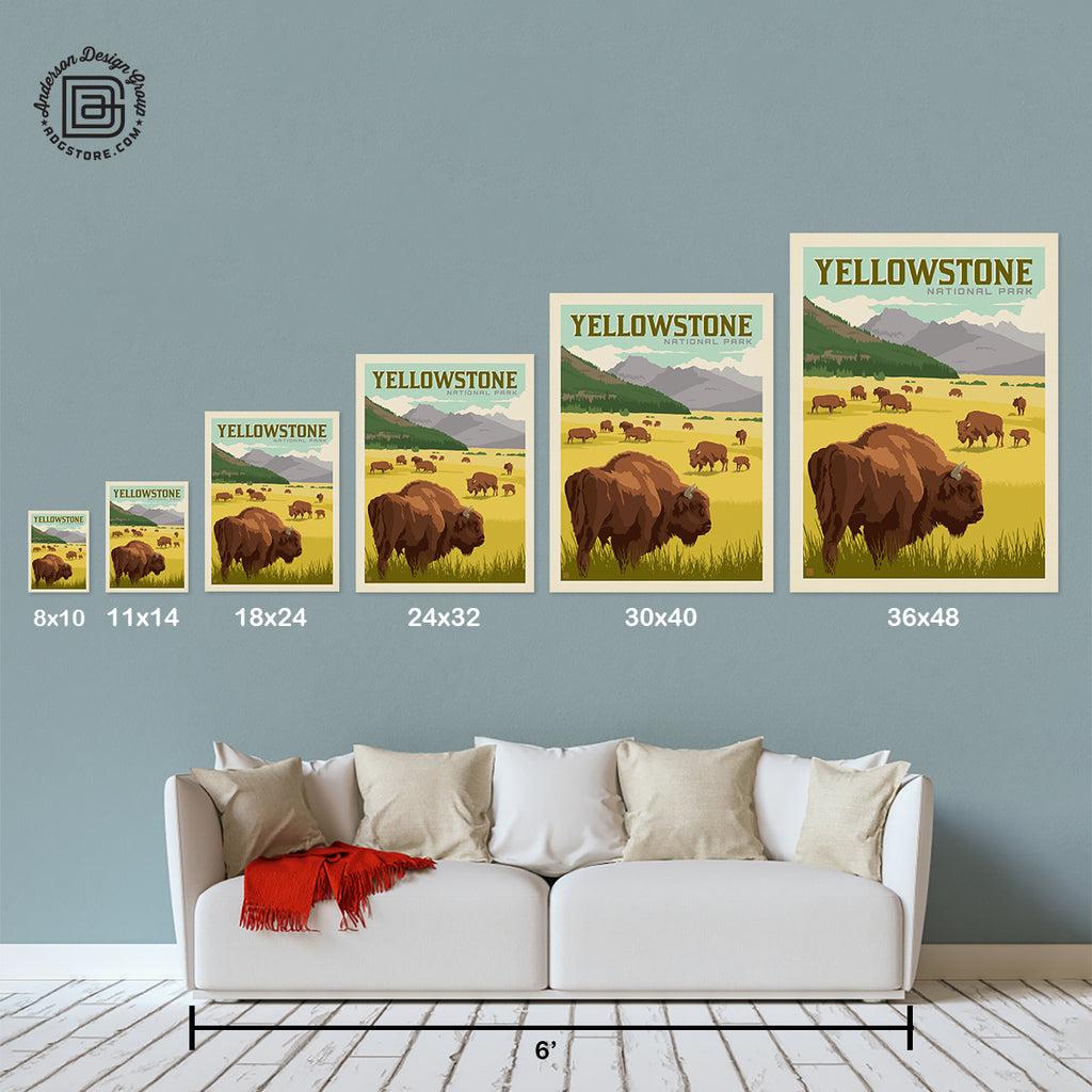 National Parks: Yellowstone-Bison (Best Seller)