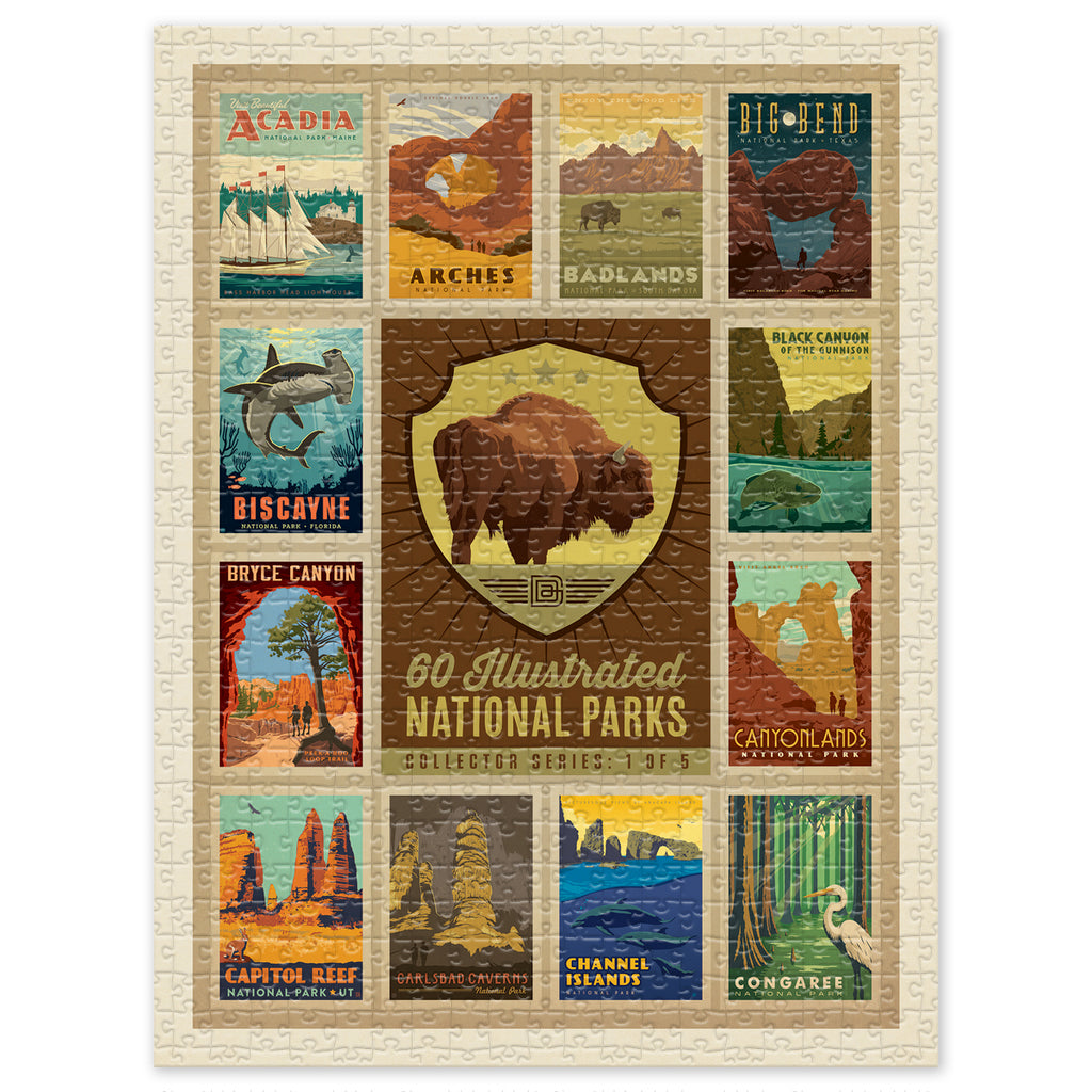 500-Pc. Puzzle: 60 National Parks Multi-Image (1 of 5: Bison)