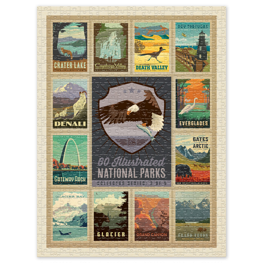 500-Pc. Puzzle: 60 National Parks Multi-Image (2 of 5: Eagle)