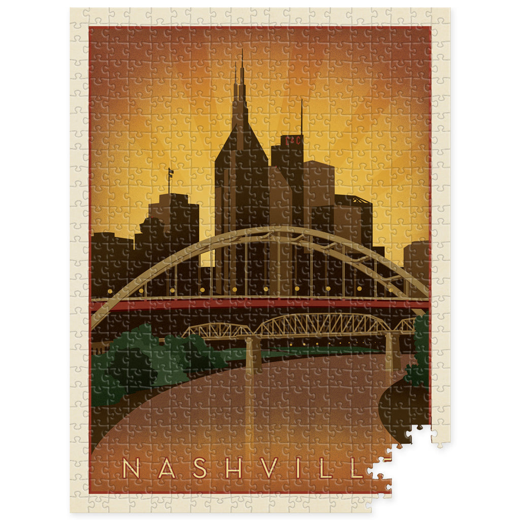 S.O.N. 500-pc Puzzle: Bridges Skyline