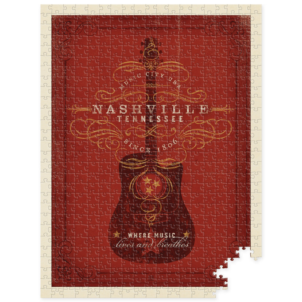 S.O.N. 500-pc Puzzle: Red Guitar