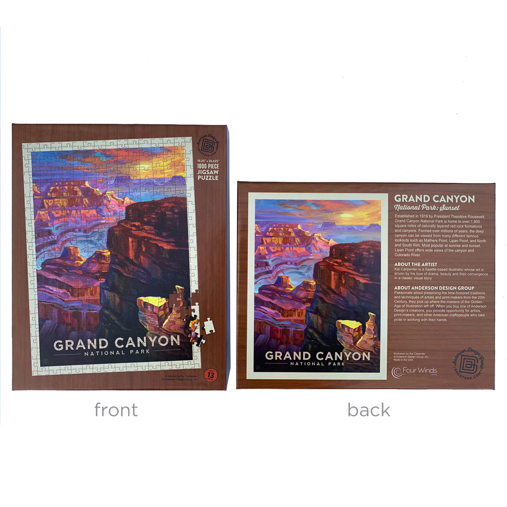 1000-Pc. Puzzle: Grand Canyon National Park (Art by Kai Carpenter)