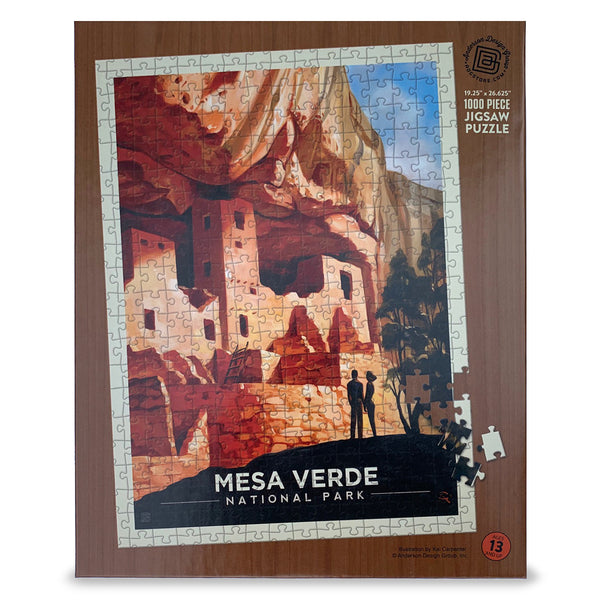 1000-Pc. Puzzle: Mesa Verde National Park (Art by Kai Carpenter)